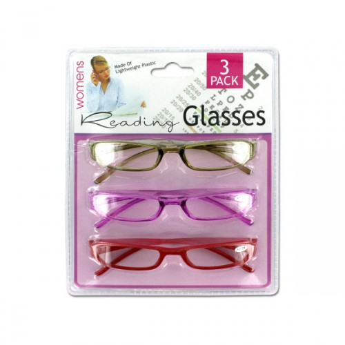 3 pack womens reading GLASSES