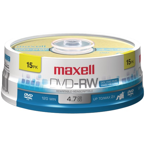Maxell 4.7gb 120-minute DVD-rws (15-ct Spindle)