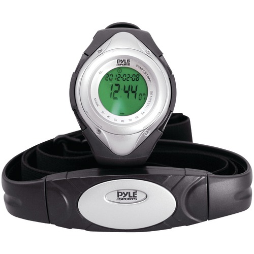 Pyle Pro Heart Rate Monitor WATCH With Minimum, Average & Maximum Heart Rate (silver)