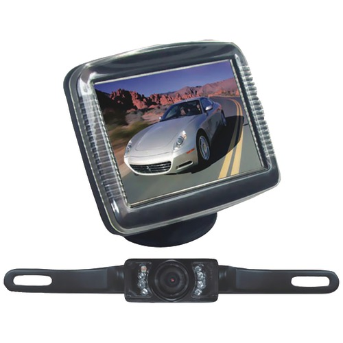"Pyle Pro 3.5"" Slim Tft LCD Universal Mount Monitor System With LICENSE PLATE Mount & Backup"