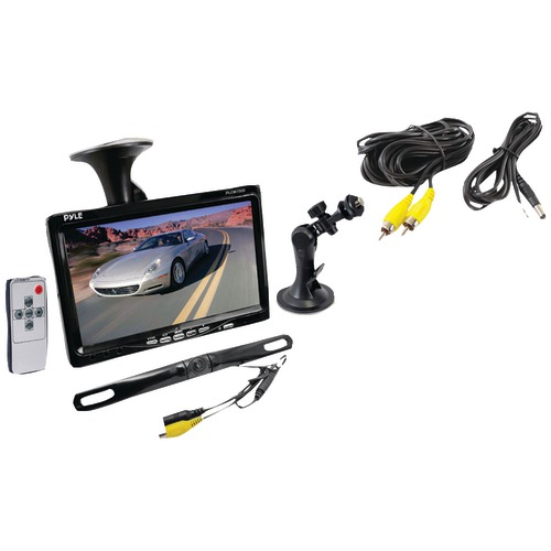 "Pyle Pro 7"" Window Suction-mount LCD Widescreen Monitor & LICENSE PLATE Mount Backup Color"