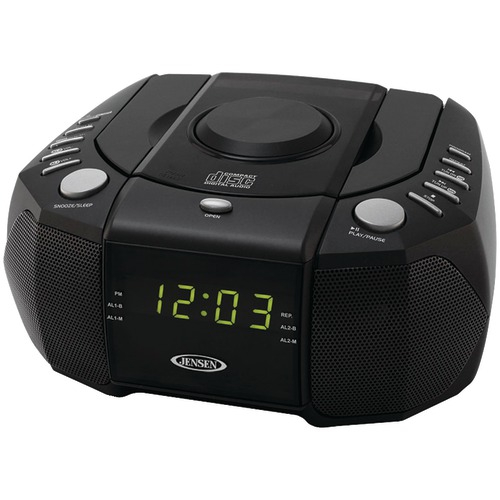 Jensen Dual Alarm Clock Am And Fm Stereo Radio With Top Loading Cd Player at Sears.com