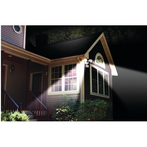 MAXSA INNOVATIONS DUAL-HEAD SOLAR SPOTLIGHT (OFF WHITE)
