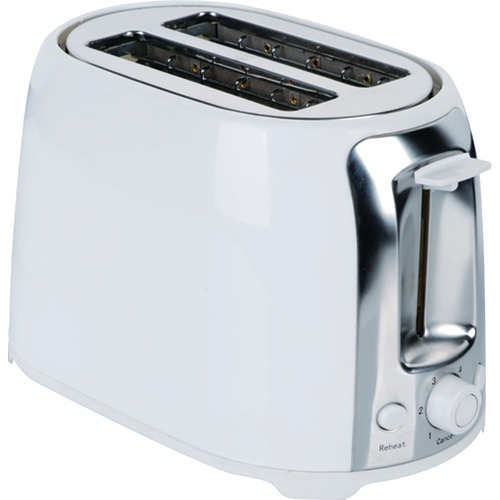 Brentwood 2 slice Cool Touch Toaster white &amp Stainless Steel