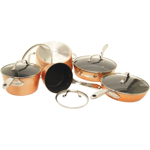 The Rock By Starfrit 10 Piece Copper Cookware Set Nonstick